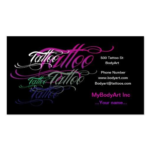 cool tattoo business card zazzle