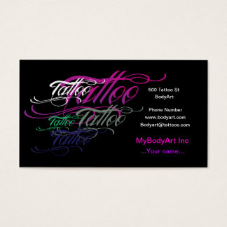 Tattoo Business Cards & Templates | Zazzle
