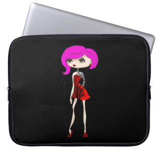 Cool Tattoo Girl Doll Design Computer Sleeves
