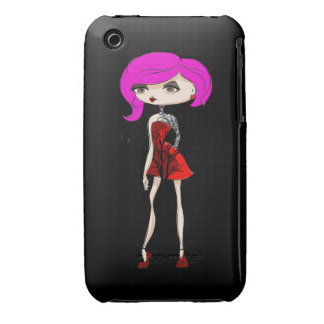 Cool Tattoo Girl Doll Design iPhone 3 Cover