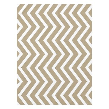Halloween Themed Cool taupe white Chevron  tablecloth