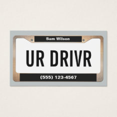 Cool Taxi Service Car Licensed Plate Business Card at Zazzle