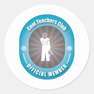 Cool Teachers Club Round Sticker