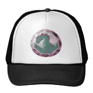 Cool Teal And Pink Dragon Gem Trucker Hat