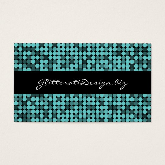 Cool Teal Glam Business Card