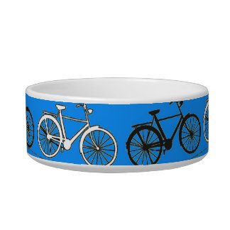 Cool Teal Turquoise Blue Vintage Bicycles Bikes Bowl