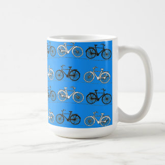 Cool Teal Turquoise Blue Vintage Bicycles Bikes Coffee Mug