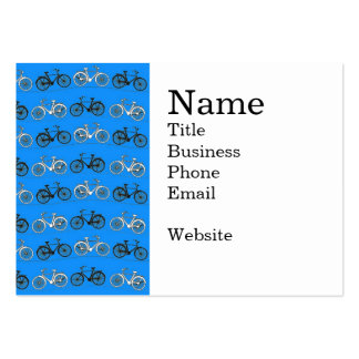 Cool Teal Turquoise Blue Vintage Bicycles Bikes Large Business Cards (Pack Of 100)