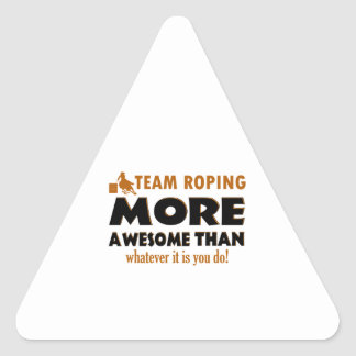 Cool Team Roping designs Triangle Stickers