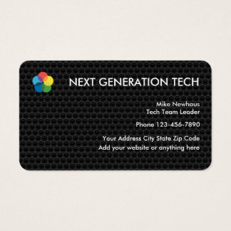 Cool Tech Logo Business cards