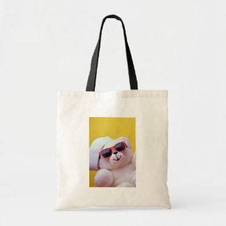 Cool teddy bear with sunglass canvas bag