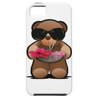 Cool Teddy Bear With Sunglasses iPhone SE/5/5s Case