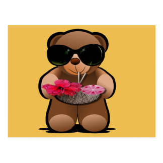 Cool Teddy Bear With Sunglasses Postcard