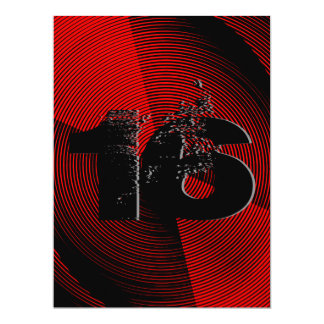 Cool Teen 16th Birthday Party 6.5x8.75 Paper Invitation Card