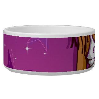 Cool Teen Hip Hop Rapper Pink and Purple Cartoon Bowl