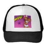 Cool Teen Hip Hop Rapper Pink and Purple Cartoon Trucker Hat