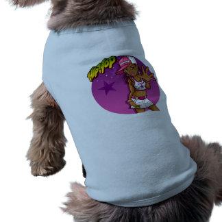 Cool Teen Hip Hop Rapper Pink and Purple Cartoon Tee