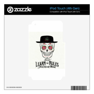 COOL TEENAGE SKULL COLLECTION- LEARN THE RULES DECALS FOR iPod TOUCH 4G