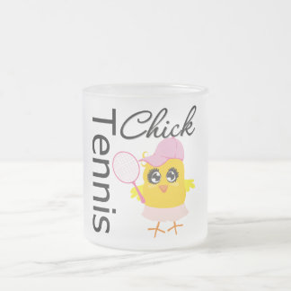 Cool Tennis Chick Frosted Glass Coffee Mug