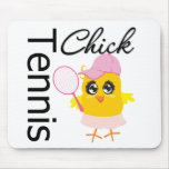 Cool Tennis Chick Mouse Pads