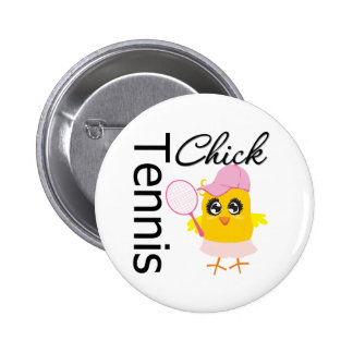 Cool Tennis Chick Pinback Button