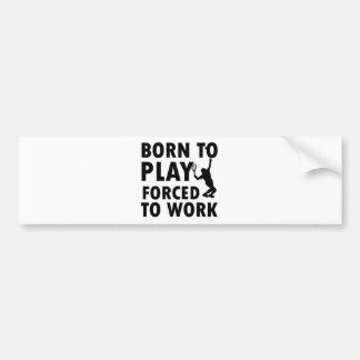 Cool Tennis Designs Bumper Sticker