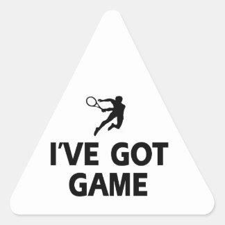 cool  tennis designs triangle sticker