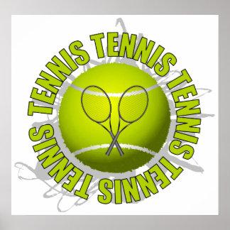 Cool Tennis Emblem Poster