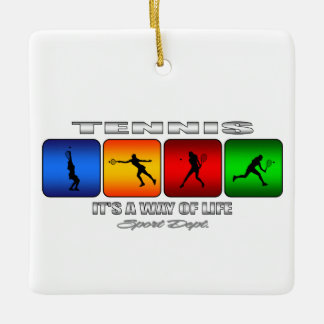 Cool Tennis It Is A Way Of Life (Female) Ceramic Ornament