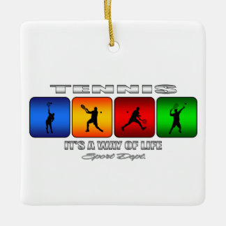 Cool Tennis It Is A Way Of Life (Male) Ceramic Ornament