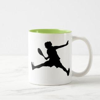 Cool Tennis Two-Tone Coffee Mug