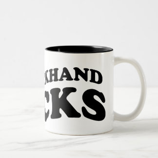Cool Tennis Mug: My backhand rocks Two-Tone Coffee Mug