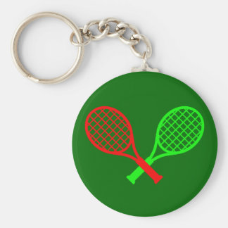 Cool Tennis Racket Abstract Design key chain