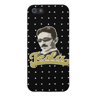 Cool Tesla with Shades iPhone Case