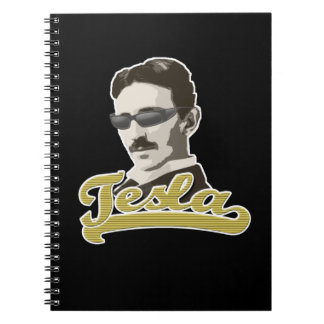 Cool Tesla with Shades Notebook