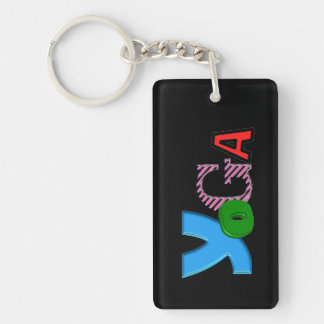 Cool Text Design - Yoga Keychain - Party Favors
