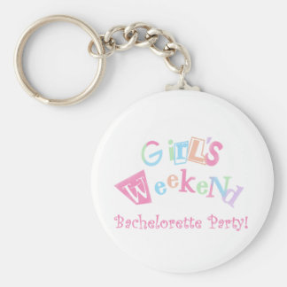 Cool Text Girls Weekend Bachelorette Party Key Chains