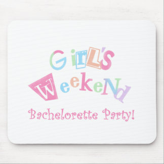 Cool Text Girls Weekend Bachelorette Party Mouse Pad