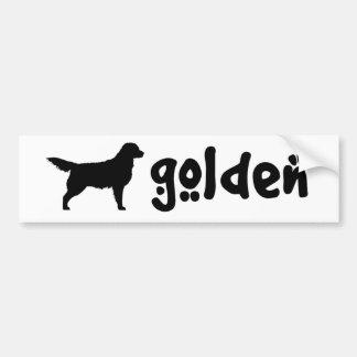 Cool Text Golden Car Bumper Sticker