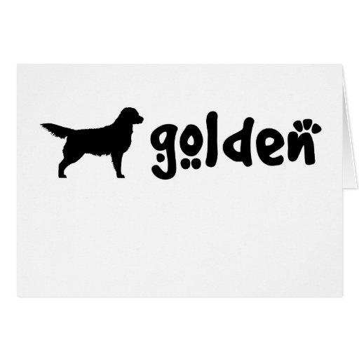 Cool Text Golden Card