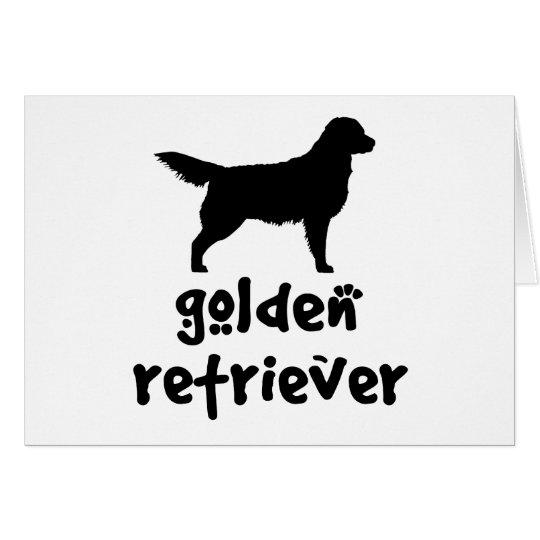 Cool Text Golden Retriever Card