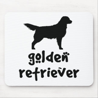 Cool Text Golden Retriever Mouse Pad