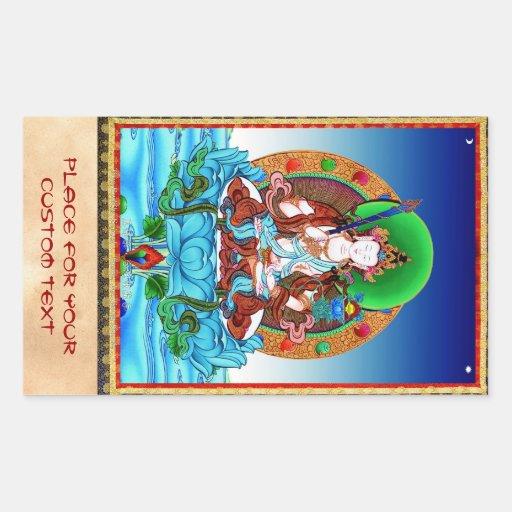Cool thangka Akasagarbha Bodhisattva Mahasattva Rectangular Sticker