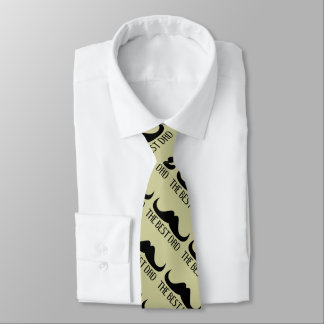 Cool The best Dad Black Moustache Father's Day Tie
