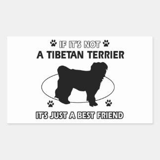 Cool TIBETAN TERRIER designs Rectangular Sticker