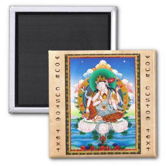 Cool tibetan thangka Cintamanicakra Avalokitesvara 2 Inch Square Magnet