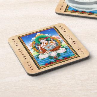 Cool tibetan thangka Cintamanicakra Avalokitesvara Beverage Coasters