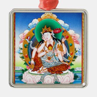 Cool tibetan thangka Cintamanicakra Avalokitesvara Metal Ornament