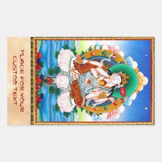 Cool tibetan thangka Cintamanicakra Avalokitesvara Rectangular Sticker