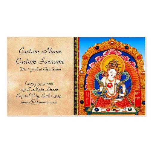 Cool tibetan thangka Dragon King Bodhisattva Business Cards